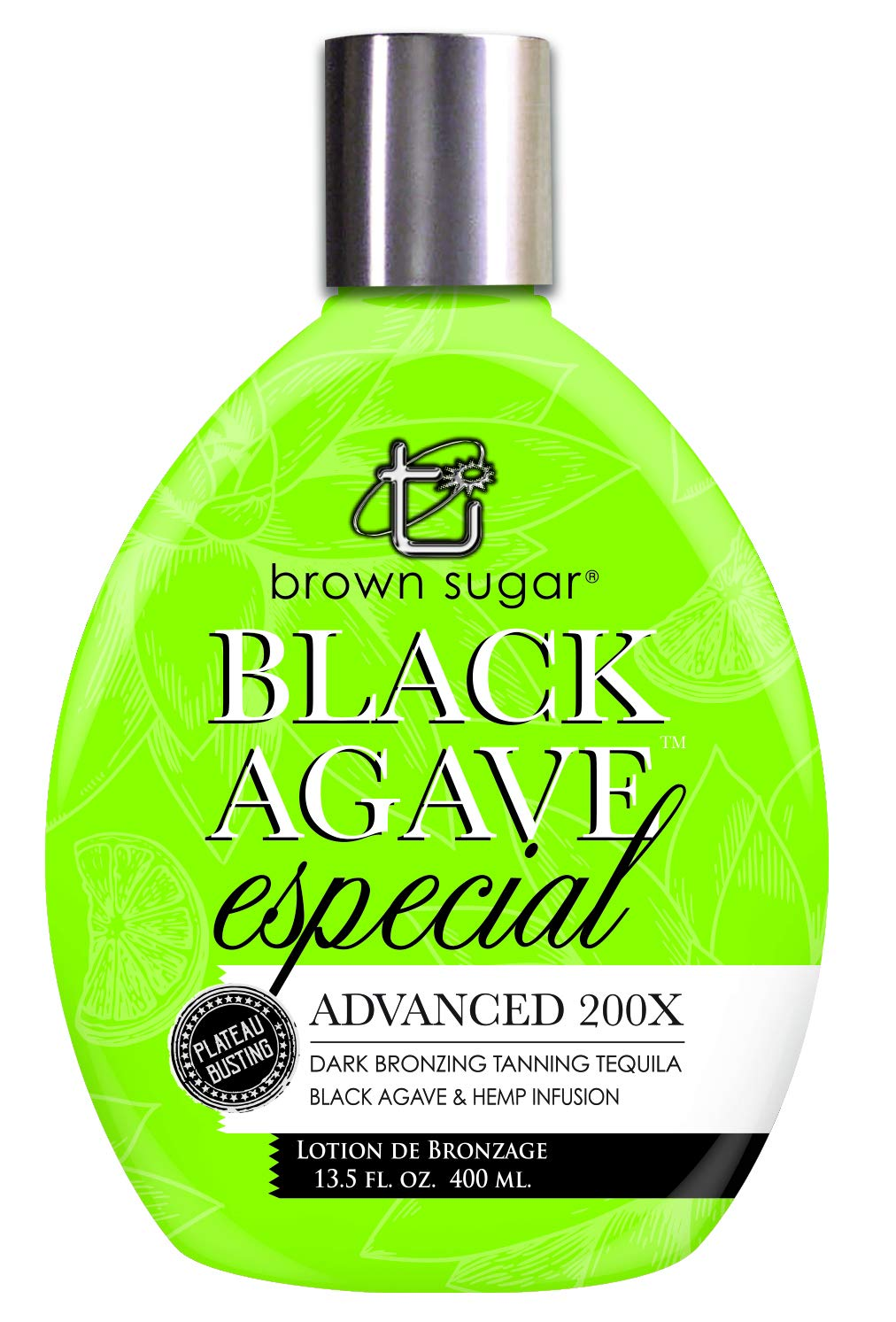 Brown Sugar BLACK AGAVE ESPECIAL 200X Dark Bronzer - 13.5 oz.