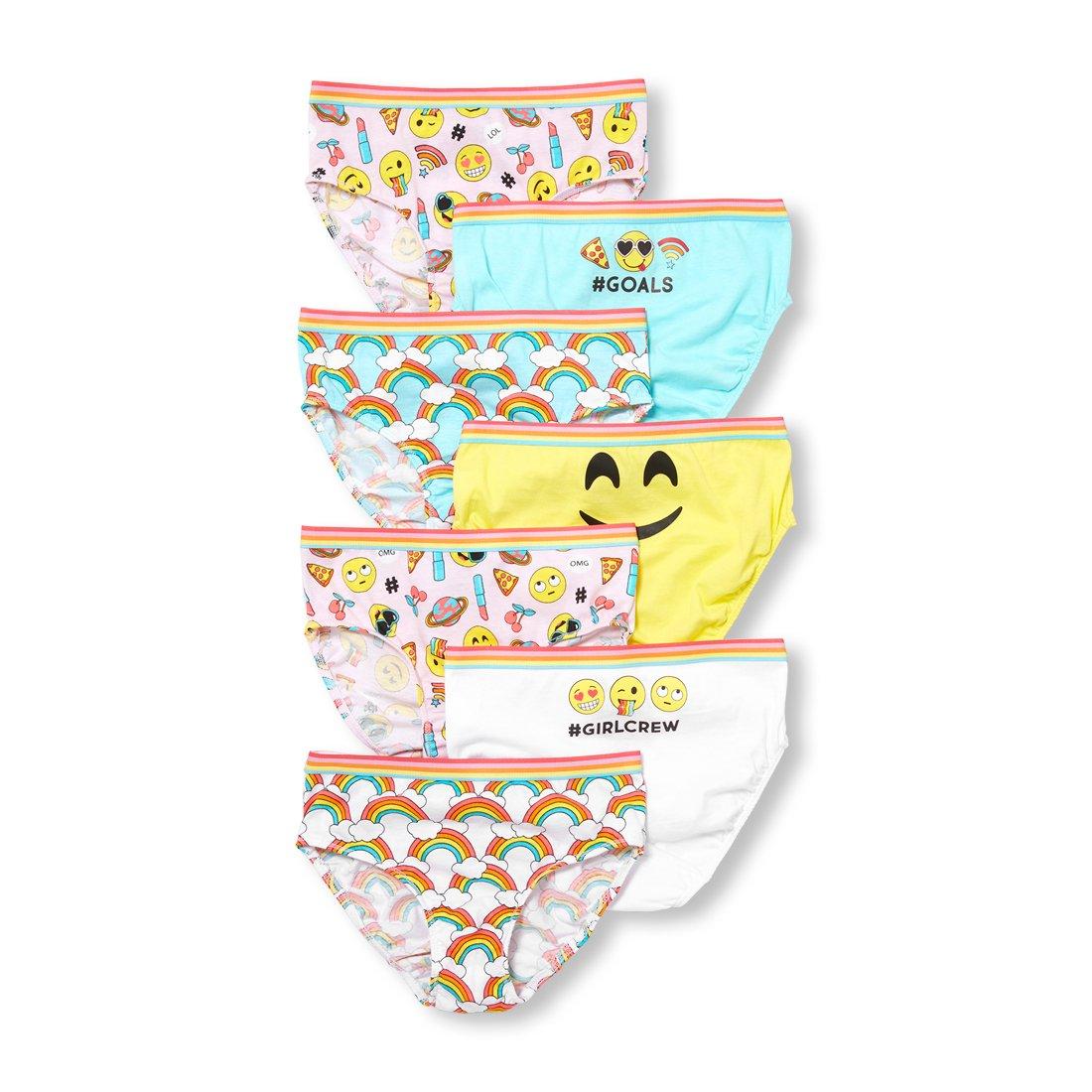The Children's Place Big Girls' 7 Pack Fashion Underwear, Multi Clr, M (7/8)