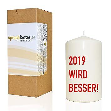 Wb Wohn Trends Spruchkerze 2019 Wird Besser Rot 14cm 480g