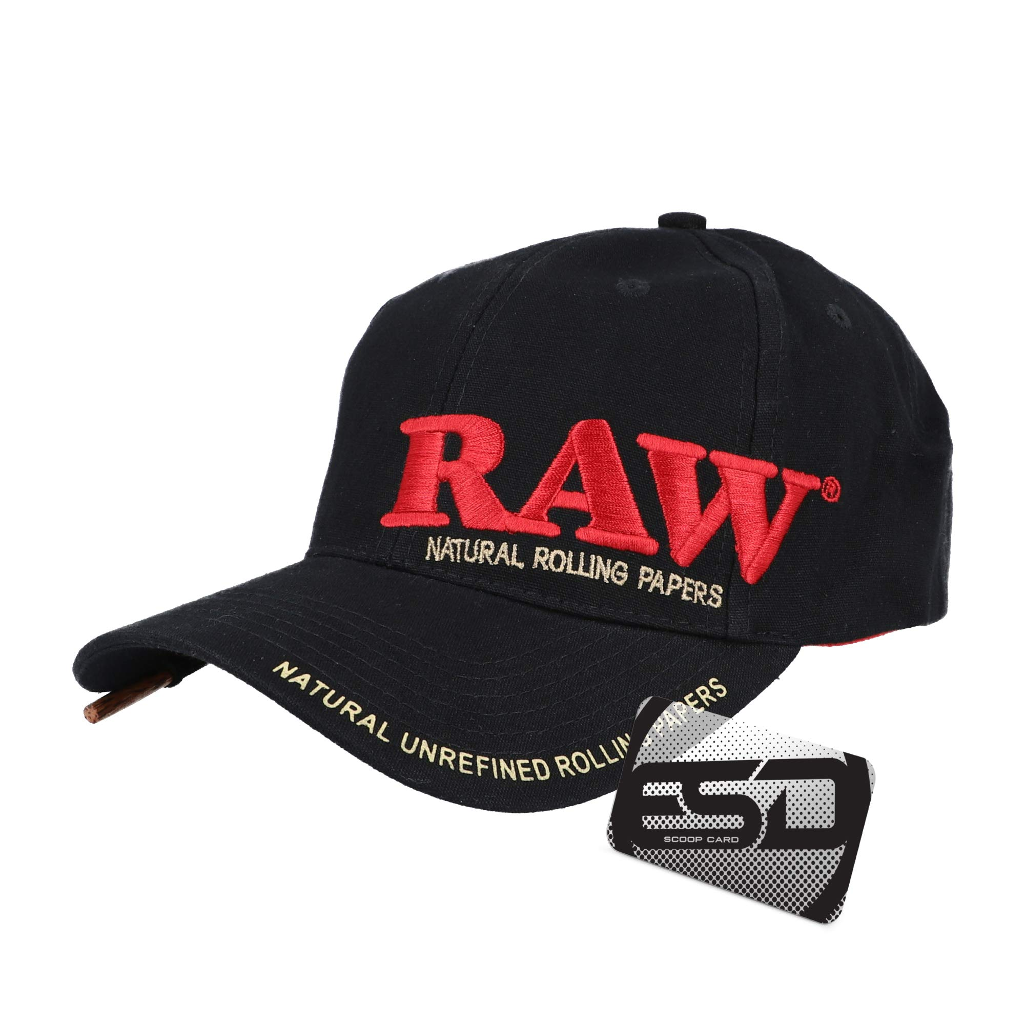 RAW Black Hat Unisex Original Promo Curved Bill Adjustable Cap | Mens and Womens Stylish Smokers Snap Back Hat