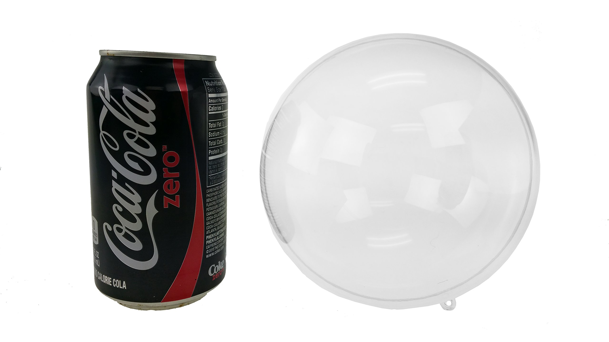 Clear Plastic Acrylic Fillable Ball Ornament - 5.25'' Inches or 133mm (6)