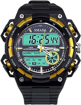 Blisfille Reloj Hombre Sumergible Reloj Hombre 700 Relojes Raros Hombre Reloj para Ejercicio Reloj Digital Rojo Hombre: Amazon.es: Deportes y aire libre