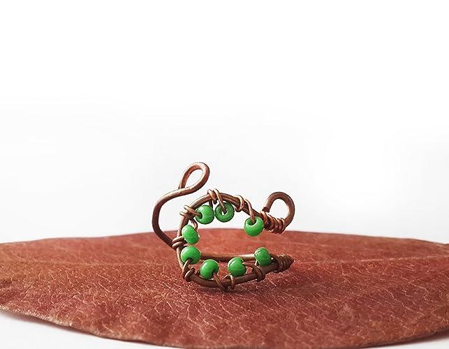 Amazon.com: Copper wire knuckle ring - Midi ring Filigree ring Wire ...