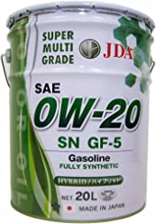 JDA エンジンオイル スーパーマルチグレードエンジンオイル 0W-20 20L 全合成基油 SN GF-5
