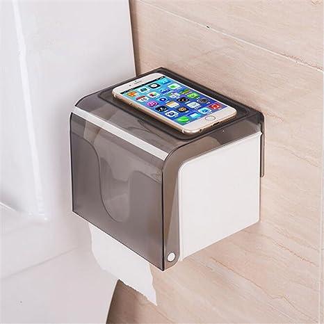 HOKIPO Magic Sticker Series Self Adhesive 2 Way Kitchen/ Bathroom Toilet Paper Holder Dispenser