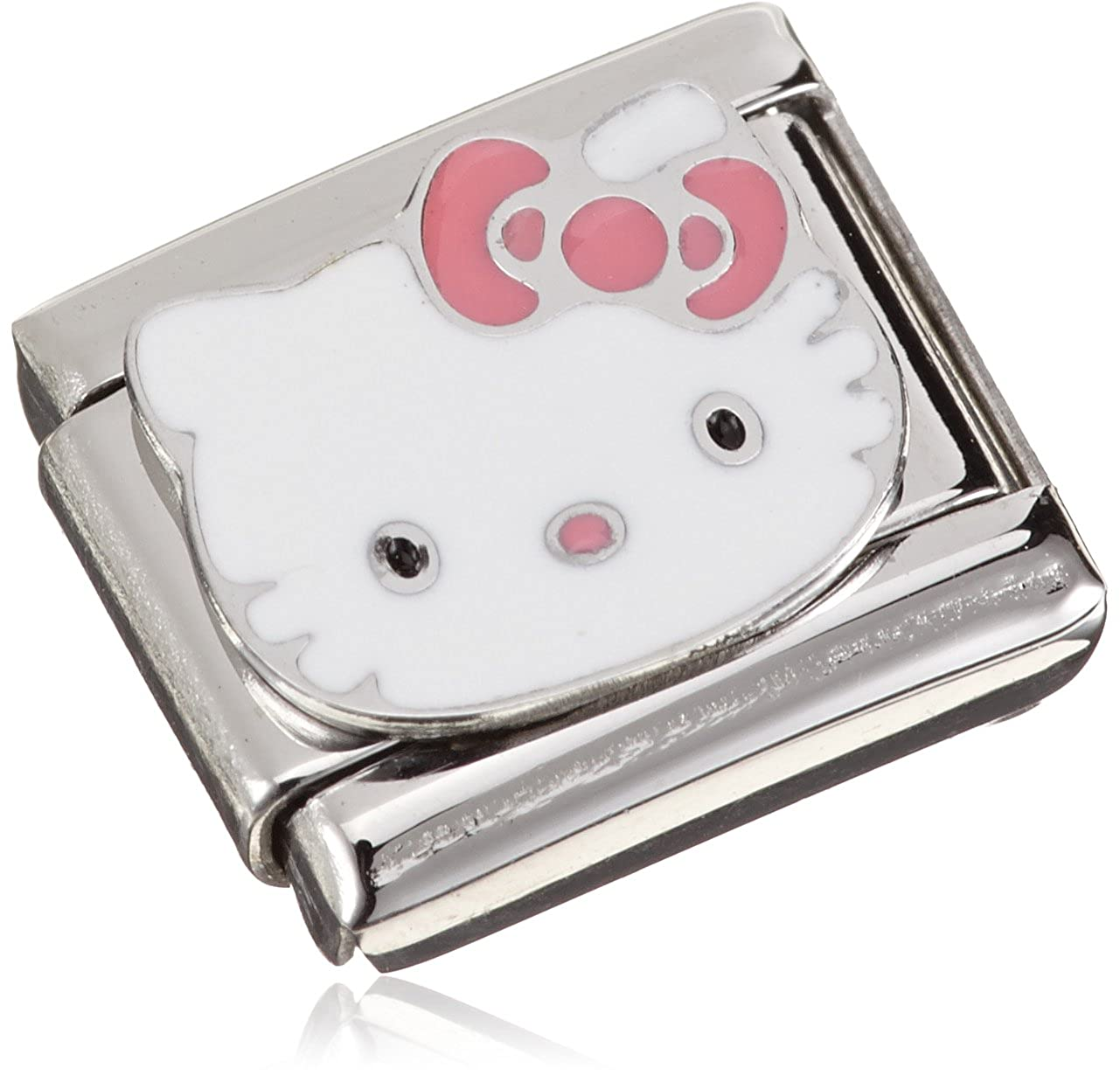 Nomination Women's Charm Hello Kitty Pink Bow Stainless Steel Enamel 230290/07 230290-07