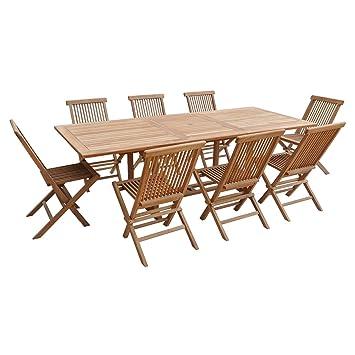 Jardin Table Lombok Extensible Salon En Rectangulaire 8 De Teck Places jLc35R4Aq