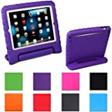 iPad Mini Case,AGRIGLEER [Kids Series]Shock Proof Convertible Handle Light Weight Super Protective Stand Cover Case for Apple iPad Mini /Mini 2/Mini 3 (Purple)