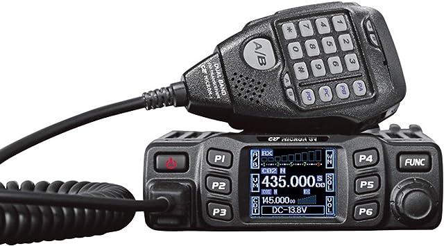 CRT Micron UV - Radio VHF/UHF con Banda Dual (144-146 MHz/430-440 MHz) Color Negro