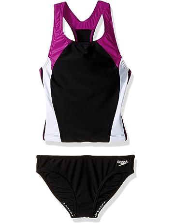 bda7a36ce4f Agoky Men s Racer Back Wresting Singlet Bodysuit Mankini Gymnastic Jumpsuit  Underwear Swimwear. Speedo Big Girls  Infinity Splice Two Piece Swimsuit Set