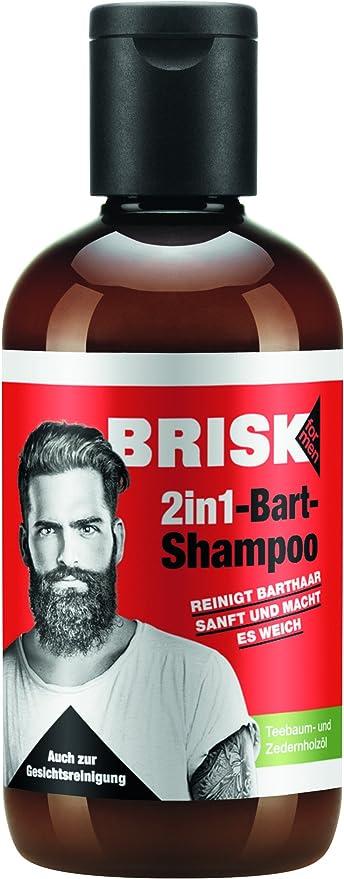 Brisk Barba de champú/2 in1 Cuidado de barba en ventaja Pack/3 ...