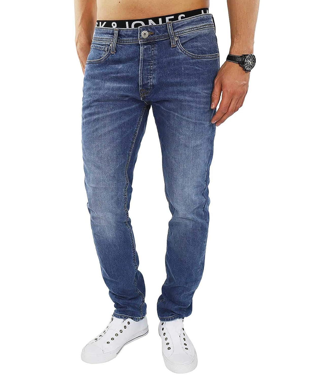 JACK /& JONES Herren Slim Fit Jeans Denim Used Look
