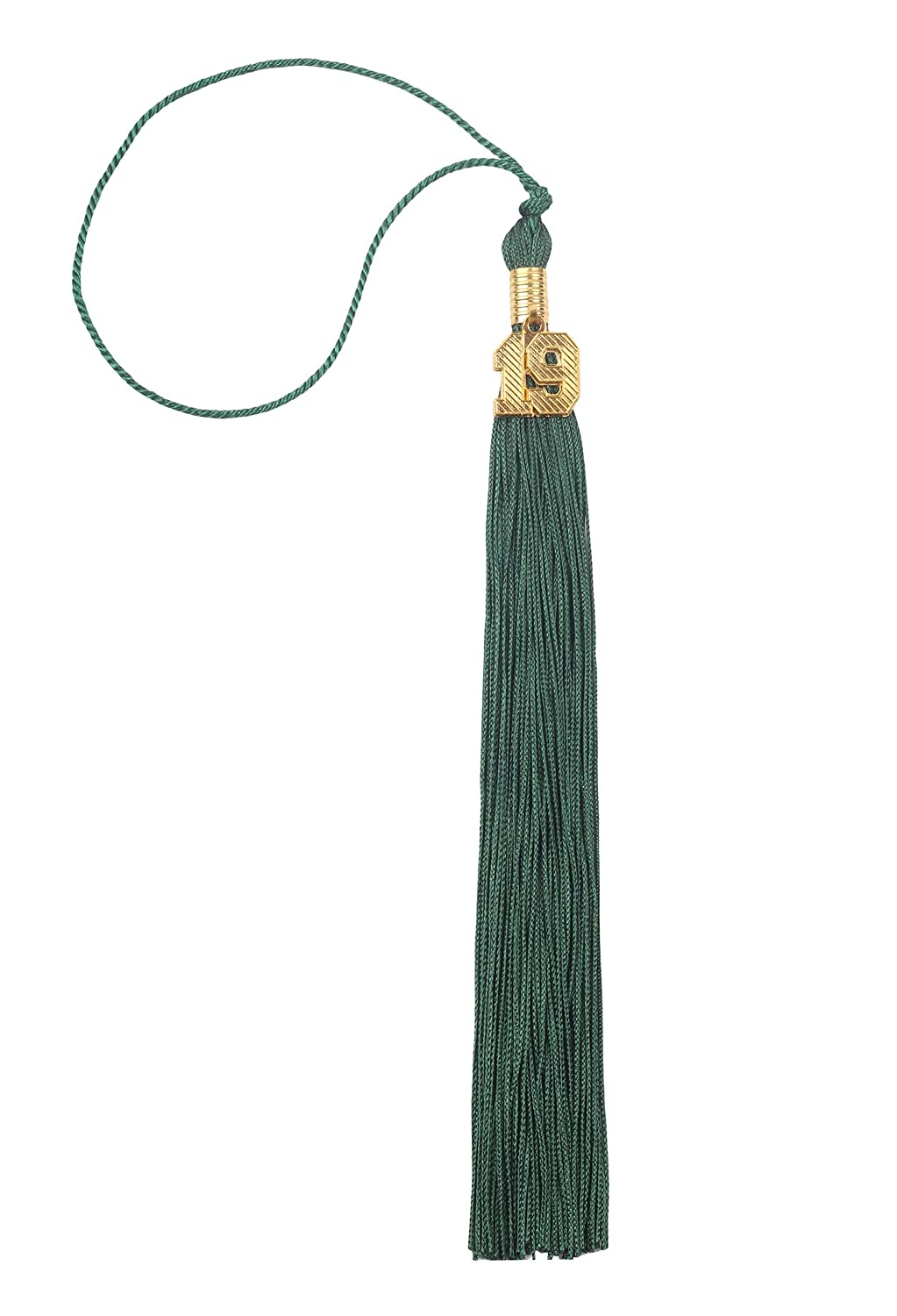 Single Color Graduation Tassel with Gold 19 Year Charm