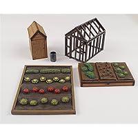 wws Calibre OO / Ho de Jardin d'allocation Modèle de modèle de Chemin de Fer Rembourré de légumes