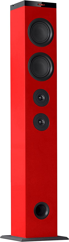 Avenzo AV6066RJ - Altavoz Torre Bluetooth, Color Rojo