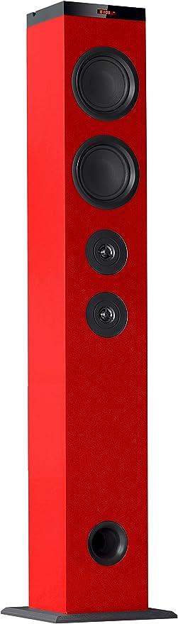 Avenzo AV6066RJ - Altavoz Torre Bluetooth, Color Rojo: Amazon.es ...
