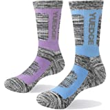 YUEDGE Women's Cotton Cushion Crew Work Boot Socks Performance Thermal Winter Warm Hiking Socks