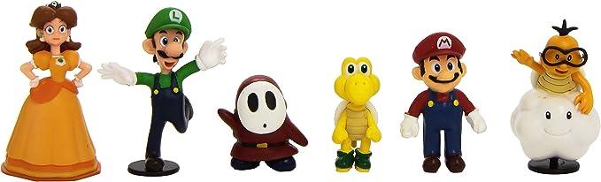 Abysse Corp. MFGNIN3 Pack 6 Figuras de Super Mario: Amazon.es: Juguetes y juegos