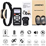 Rechargeable Dog Training Collar with Remote, 800 Yards Rainproof Anti Stop Barking Electronic Collar, Vibration Sound Automation Control, Vibrating & Beeping NO SHOCK Harmless and Humane, Fits Small Medium Large Dogs