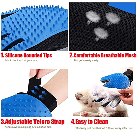 Amazon.com : shine-hearty Pet Deshedding Tools Dog Comb Glove for Cat Brush Pet Grooming Comb Gloves Cats Accessories Accesorios para Gatos Dog Hair Brush, ...