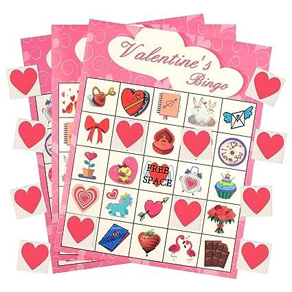 KAIMENG Juego del Dia de San Valentin Tarjetas del Jugador ...