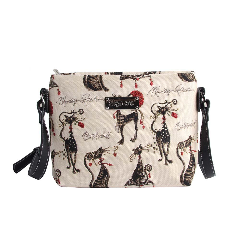 Signare Modische Tapisserie Damen Schultertasche, Bodybag oder Messengertasche Tier 10437931