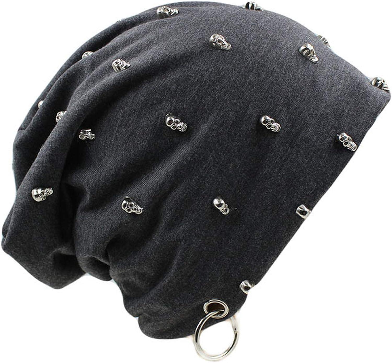 cbgxvd Men Women Unisex Casual Hat with Skull Hoop Caps Winter Warm Beanies Thick Adult Hip Hop Bonnet Hats