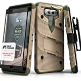 LG V20 Case, Zizo (Bolt Series) with Screen Protector and Kickstand (Military Grade Drop Tested) Holster Belt Clip