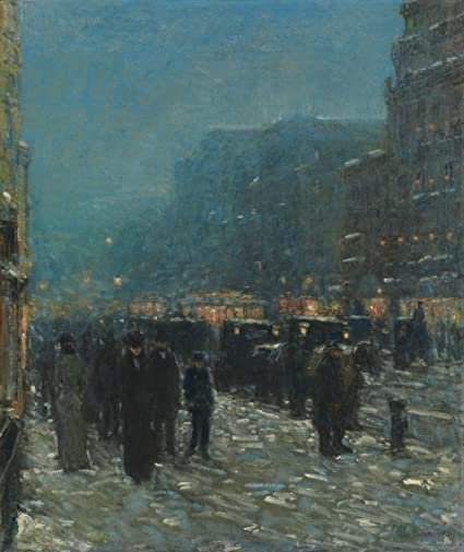 The Sonata by Childe Hassam Giclee Fine ArtPrint Reproduction on Canvas