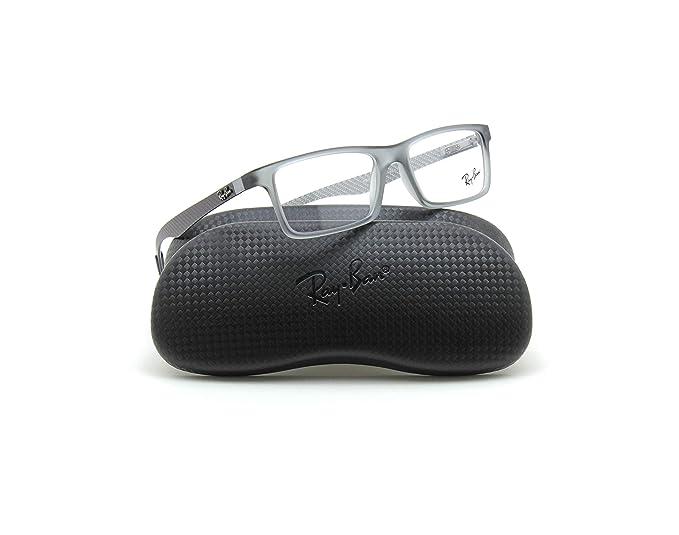 6040016a5f Amazon.com  Ray-Ban RX8901 Rectangular Carbon Fiber Prescription Glasses  5244 - 53  Clothing