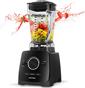 Smoothie Blender, Anthter 1600W Professional Countertop Blender for Kitchen, with 68oz BPA Free Pitcher, 3 Presets, 6-Leaf Stainless Steel, Ideal for Smoothies, Milkshakes, Ice Crushing, and Juice