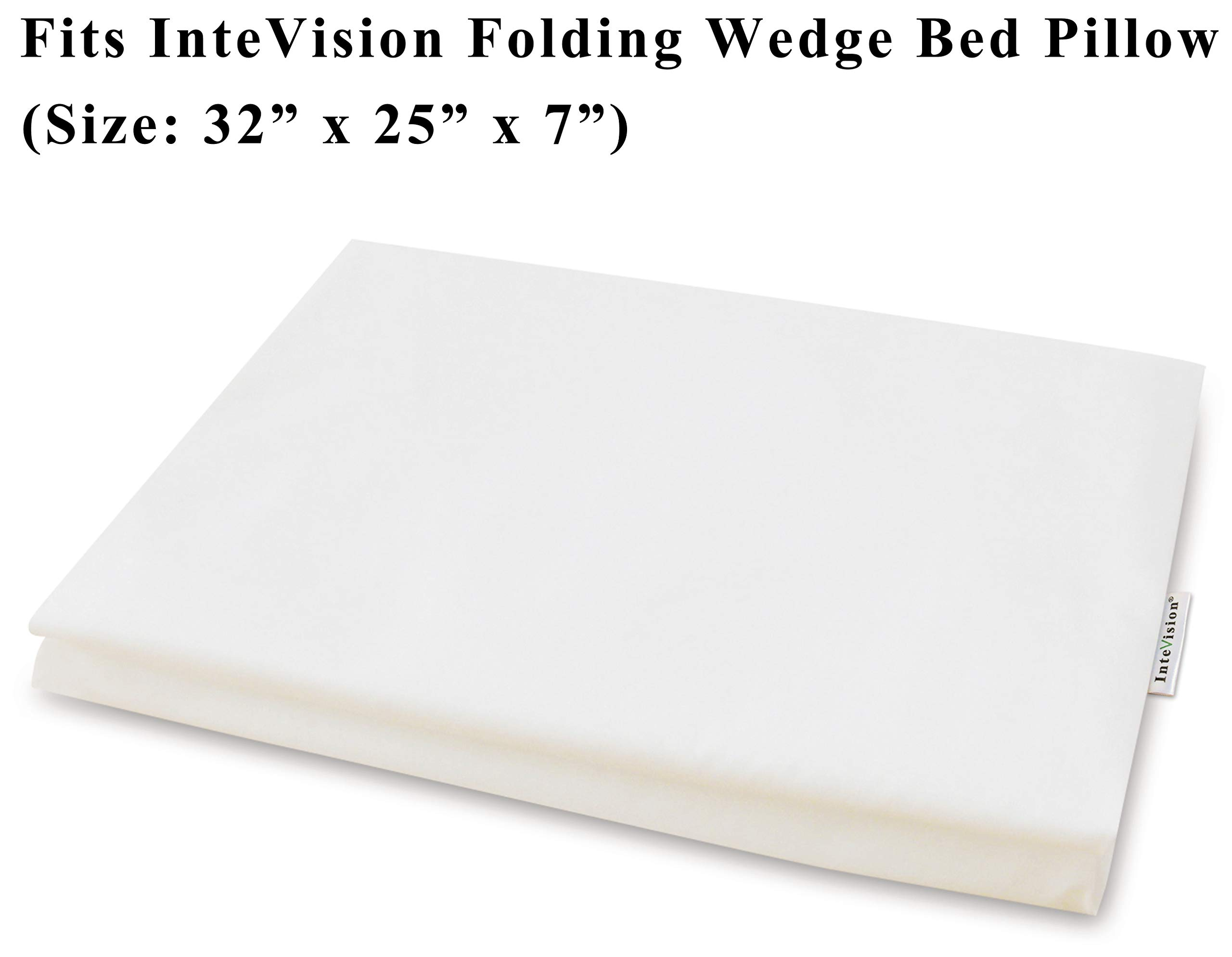 InteVision 400 Thread Count, 100% Egyptian Cotton Pillowcase. Designed to Fit the InteVision Folding Wedge Bed Pillow (32'' x 25'' x 7'') by InteVision