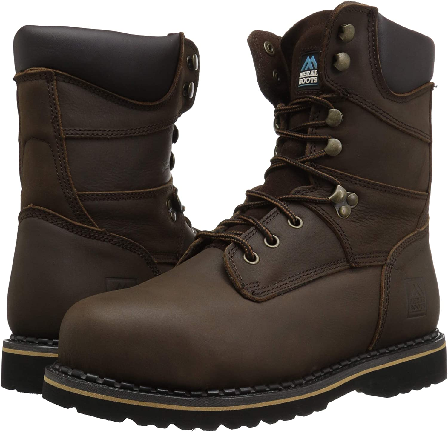 MCRAE Industrial Mens 8 Safety Toe Lace-up Boots MR88344