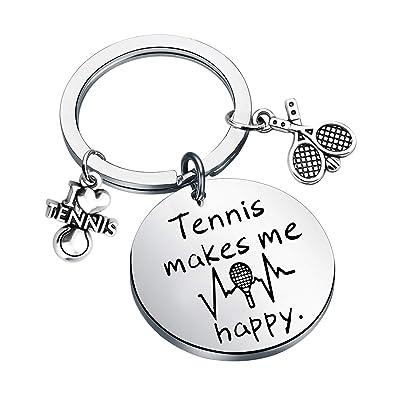 Amazon.com: FUSTYLE Llavero de tenis con texto en inglés ...