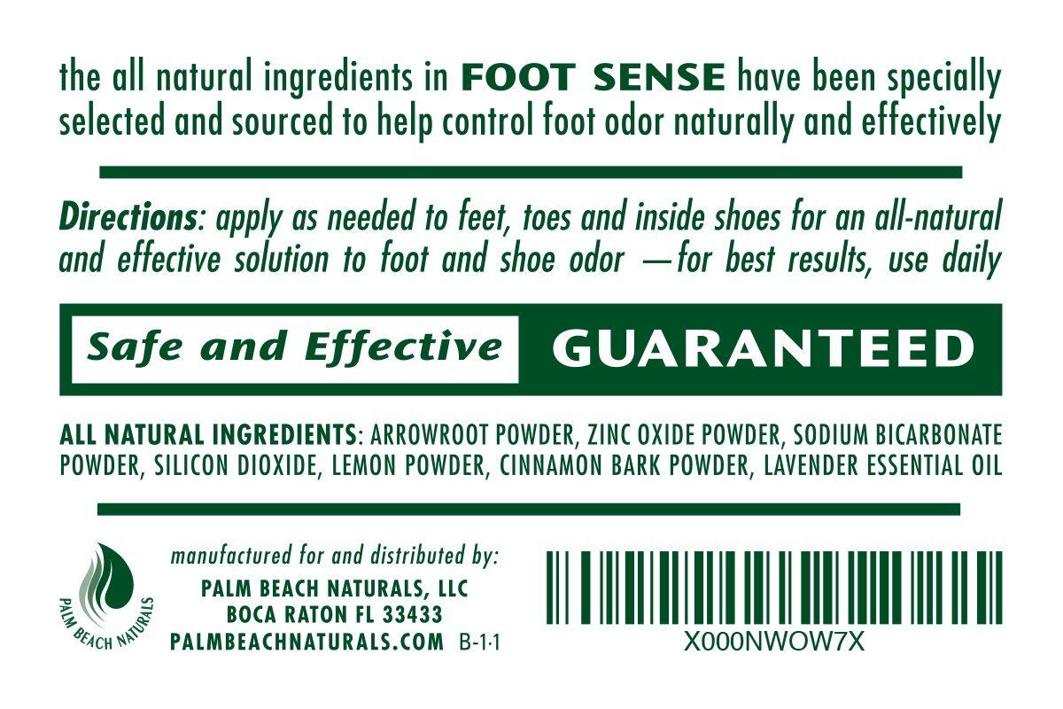 FOOT SENSE All Natural Smelly Foot & Shoe Powder - Foot Odor Eliminator lasts up to 6 months. Safely kills bacteria. Natural formula for smelly shoes and stinky feet. (1 Pack) by Foot Sense (Image #3)