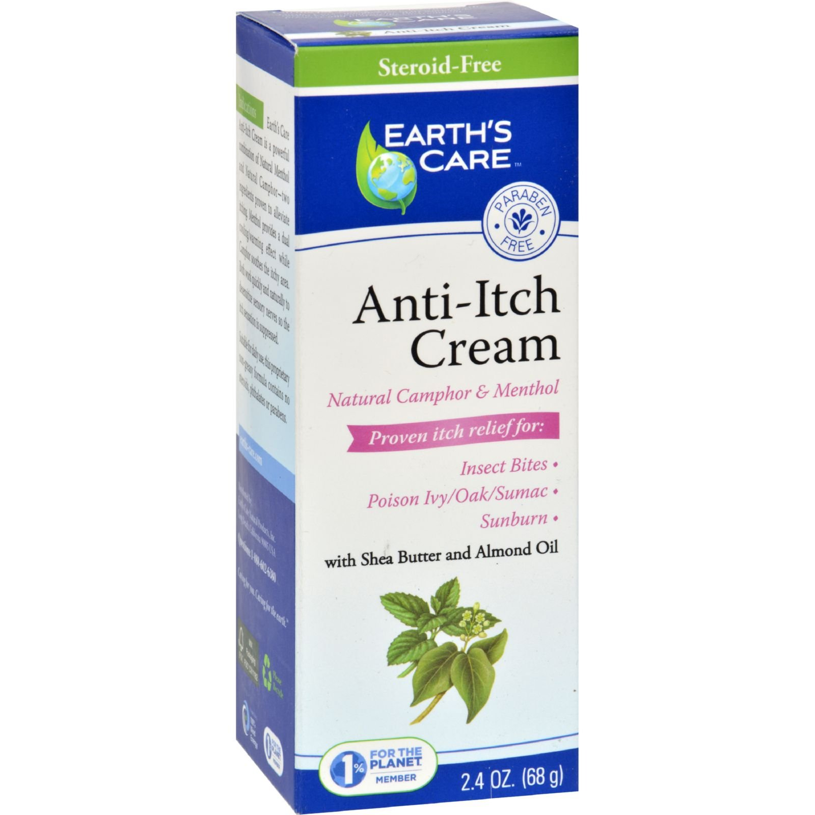 Earths Care Anti-Itch Cream - 2.4 oz (Pack of 2)