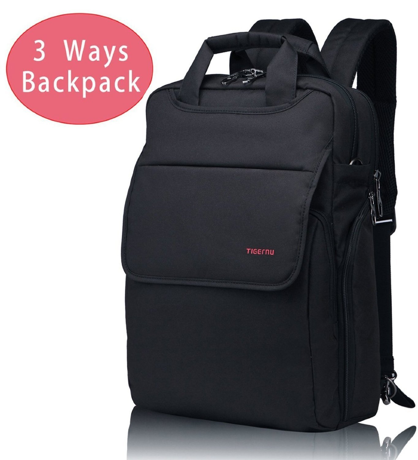 Kuprine Lightweight Slim Best Laptop Backpack Convertible Black Business Travel College Macbook Computer Backpack