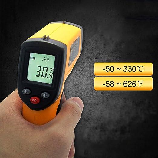 Handheld sin contacto IR láser digital termómetro de infrarrojos pistola de temperatura -58 ℉ - 626 ℉ de cocina barbacoa Automotive Industrial, ...