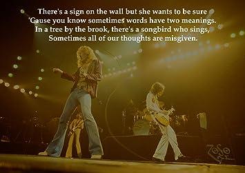 Amazon De Led Zeppelin Stairway To Heaven Liedtext Tolle Rock