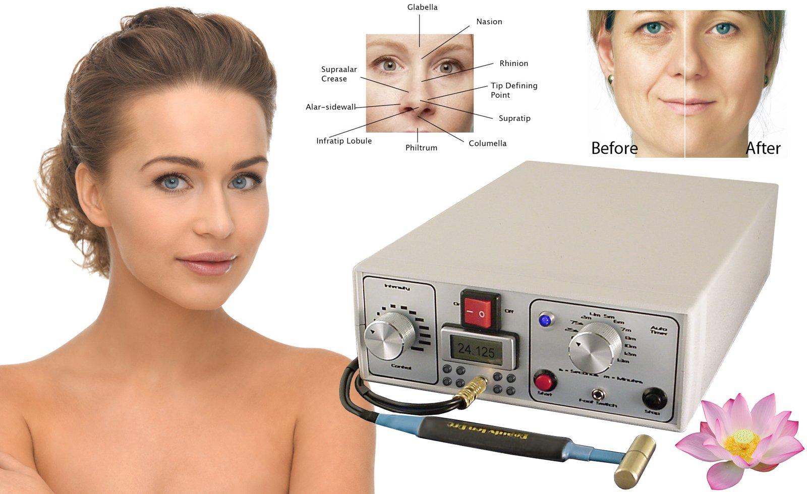Belleza Ion Pro Deluxe Sistema Anti-Envejecimiento para el Cuidado de la Piel para Lifting, Levantamiento del Cuello, Tummy Tuck y Salón de Rejuvenecimiento y Medispa