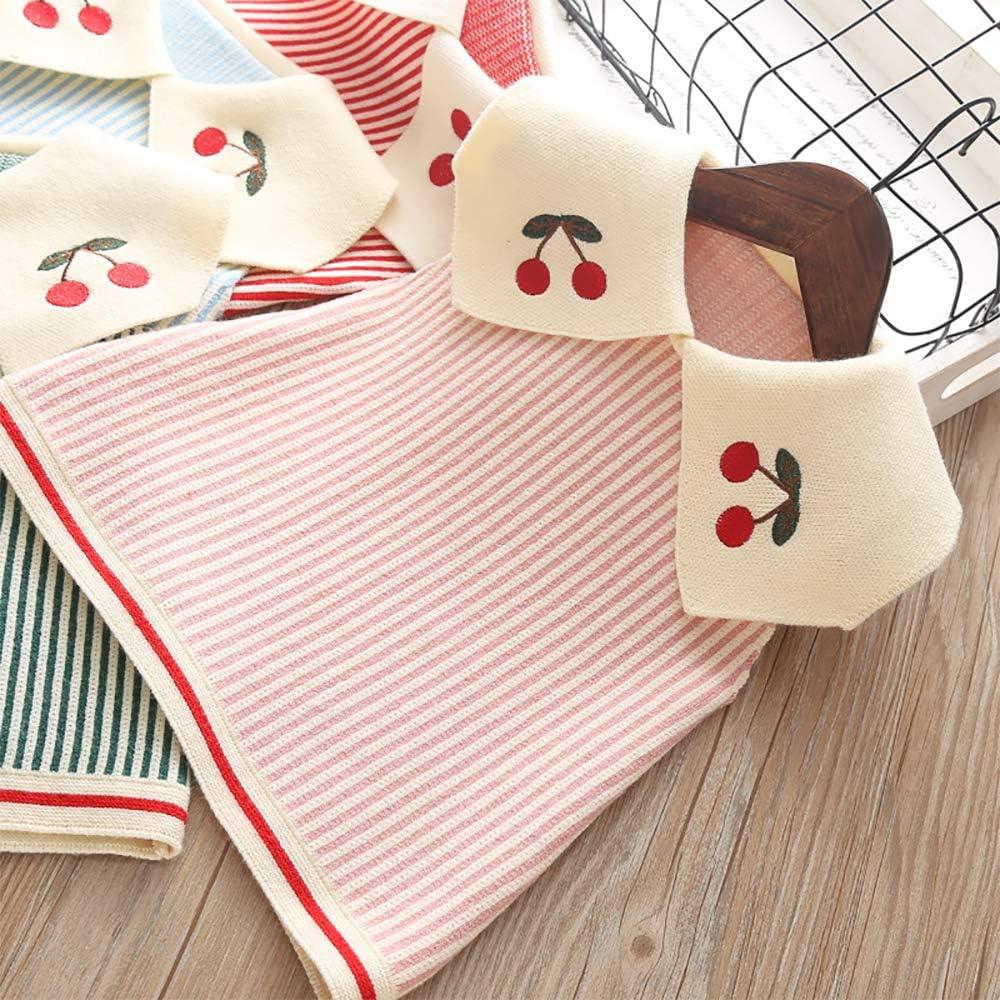 Moonnut Little Girls Sweater Dress Striped Sleeveless Party Sundress for 1-5 Years Baby Toddler