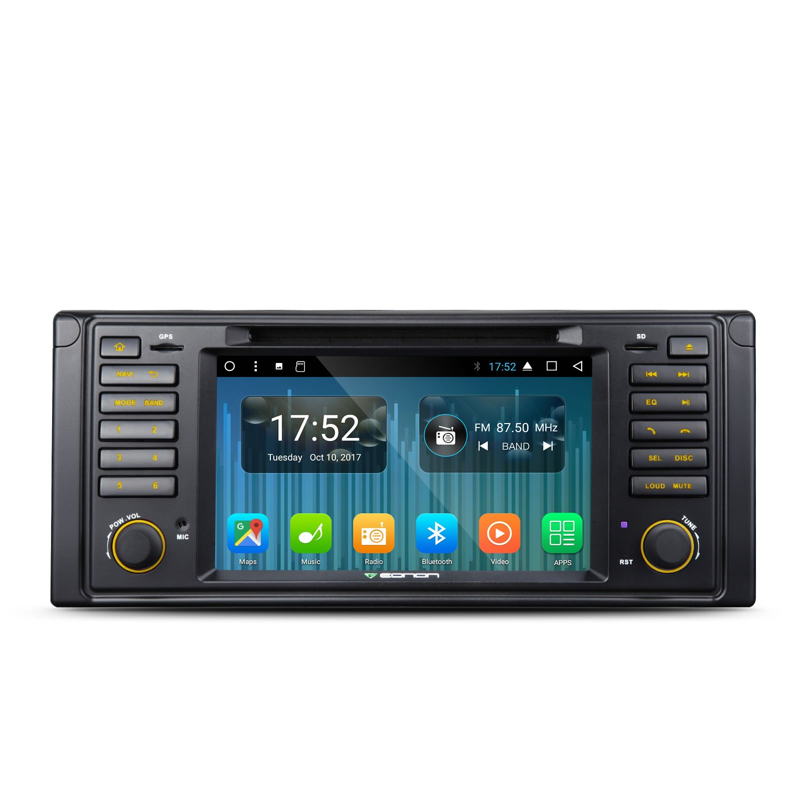 Eonon GA8201A Car Audio Stereo Radio for BMW 5 Series 1996-2003(E39) Car GPS Navigation System Android 7.1 Octa-Core 2GB RAM 7 '' Single Din Touch Screen with Bluetooth Head Unit