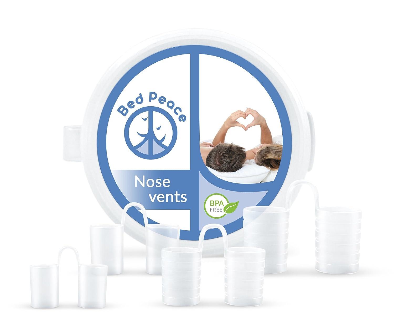 Dilatador Nasal | Solución a los ronquidos | Dispositivo Antirronquidos | Respirador Nasal | Libres BPA | Pack 4 Tamaños Distintos | Funda Protectora ...