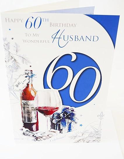 Happy 60th tarjeta de cumpleaños para marido elegante hombre ...