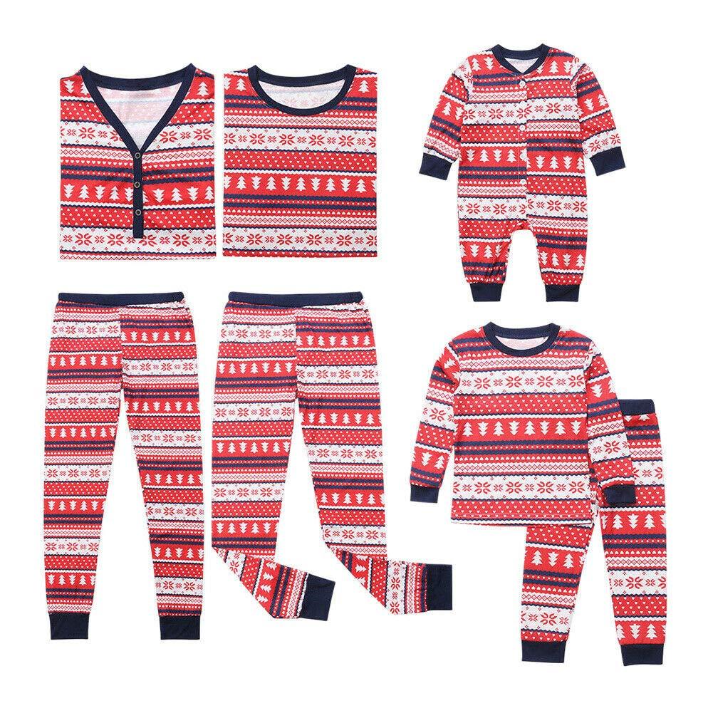 Lange /Ärmel Bedruckte Nachtw/äsche Weihnachten Kleidung Sleepwear Homewear Meijunter Weihnachten Familien Schlafanzug Set