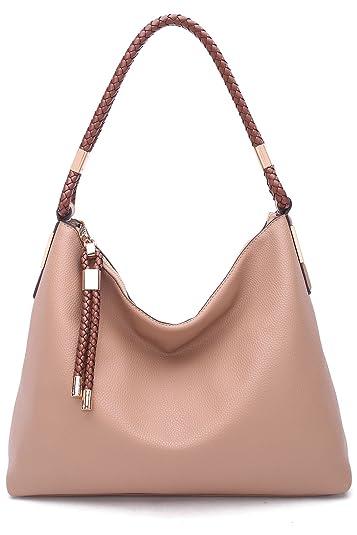 ae6e4327e418 Amazon.com  MKF Collection by Mia K Farrow Ashley Hobo Bag (Apricot)  Shoes
