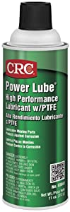 CRC Power Lube Industrial High Performance Lubricant with PTFE, 16 oz. (Net weight: 11 oz)Aerosol Can, Light Amber/White