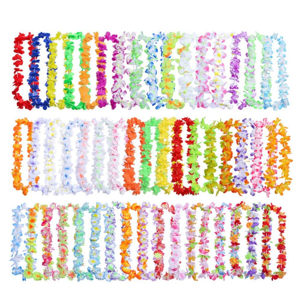 6SHINE K/ünstliche Blumen Leis 50 Teile//Paket Girlande Halskette Bunte Party Decor Phantasie Seidentuch H/ängen Kranz Ornamente Langlebig Leichte Strandmode Sommer