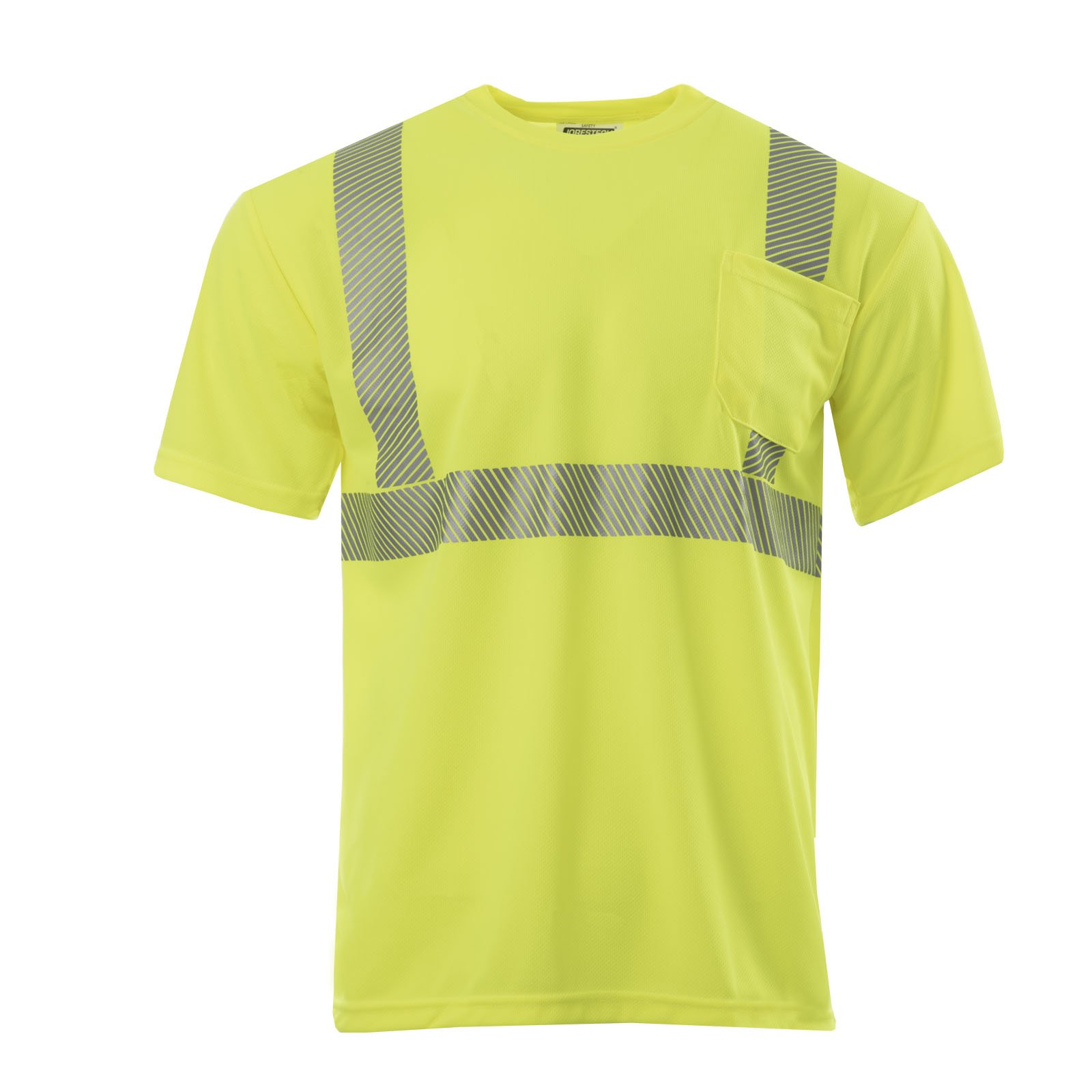 JORESTECH High Visibility Safety short sleeve shirt (Extra Large, Lime)