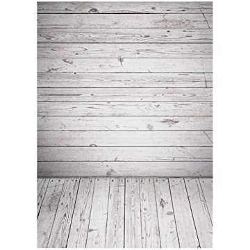 Qintec Wood Backdrops Wooden Background Backdrops for Photography Videos Studio Shooting 5x7ft